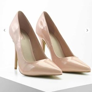 Blush Pointed Toe Patent Pumps